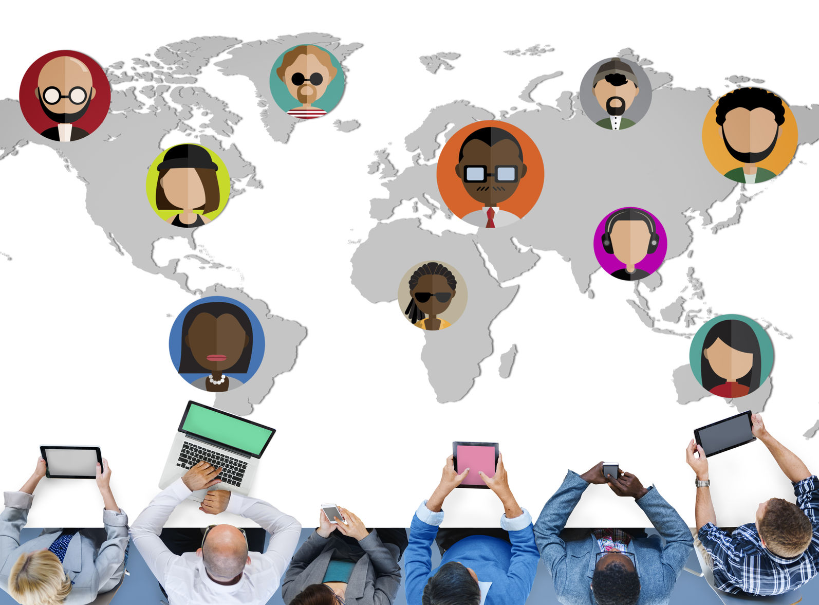 41422788 - global community world people international nationality concept